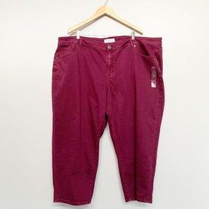 Lane Bryant Mid Rise Stretch Girlfriend Crop Jeans